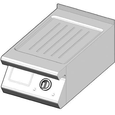 7EBP/40-R Электрический гриль с рифленой поверхностью