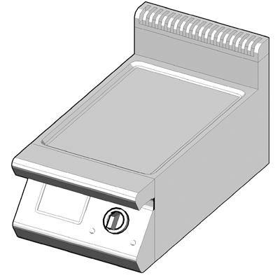 7GBP/40-L Газовый гриль с сплошной поверхностью