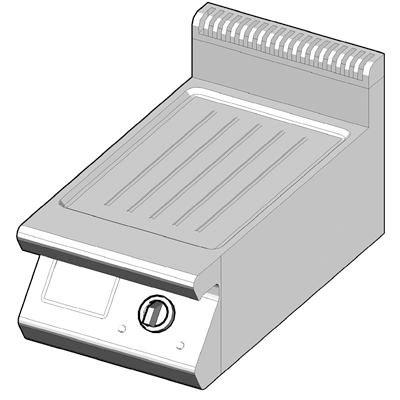 7GBP/40-R Газовый гриль с рифленой поверхностью