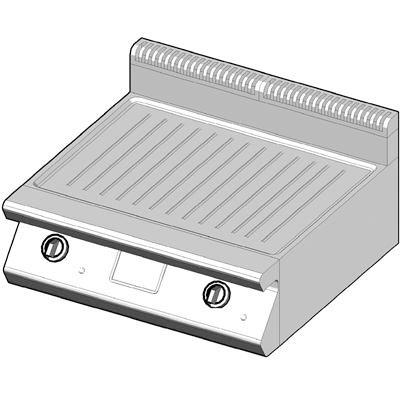 7GBP/80-R Газовый гриль с рифленой поверхностью