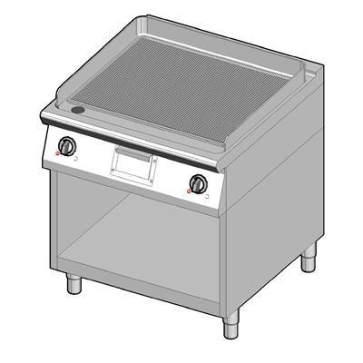 8EBPUBO/80-R Электрический гриль с рифленой поверхностью