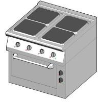 8EHUBE/80 Электрическая плита с 4 квадратными конфорками