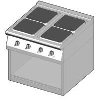 8EHUBO/80 Электрическая плита с 4 квадратными конфорками
