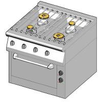 8GHUBE/80 Газовая плита 4 конфорки с духовым шкафом