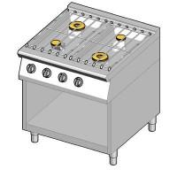 8GHUBO/80 Газовая плита 4 конфорки