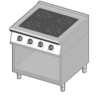 8IHR4UBO/80 Индукционная плита 4 конфорки