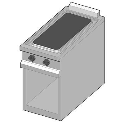CH/40 Электрическая плита с стекло-керамической поверхностью