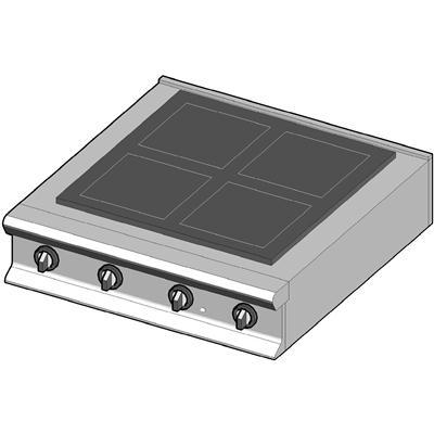 CH/90 Электрическая плита с стекло-керамической поверхностью