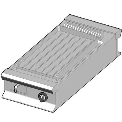 EBP/45-R-D Электрический гриль с сплошной поверхностью