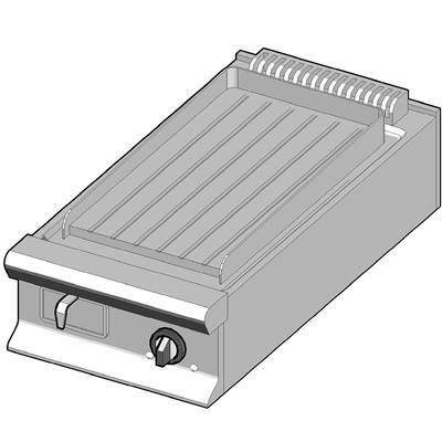 EBP/45-R Электрический гриль с рифленой поверхностью