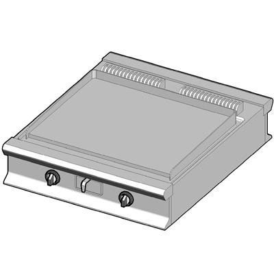 EBP/90-C-D Электрический гриль с гладкой поверхностью