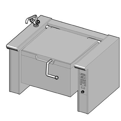 EKB/120E II Электрическая сковорода опрокидываемая