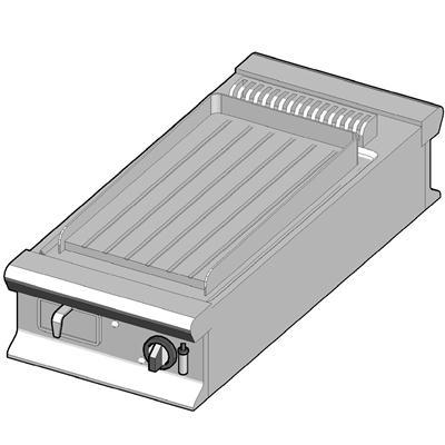 GBP/45-R-D Газовый гриль с рифленой поверхностью
