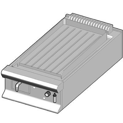 GBP/45-R Газовый гриль с рифленой поверхностью