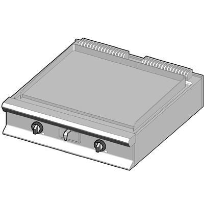 GBP/90-C Газовый гриль с гладкой поверхностью