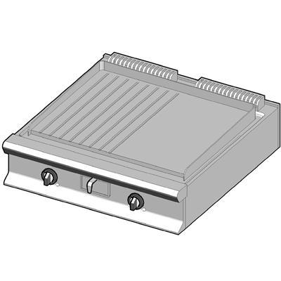 GBP/90-LR Газовый гриль с комбинированной поверхностью