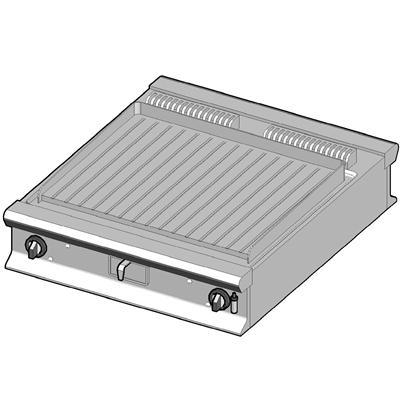 GBP/90-R-D Газовый гриль с рифленой поверхностью