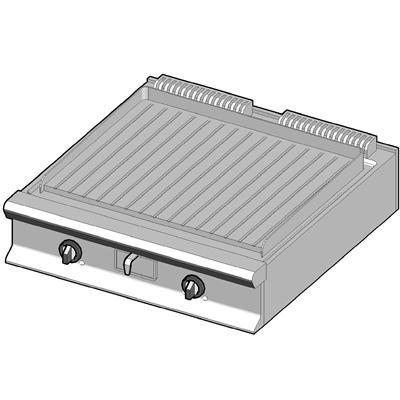 GBP/90-R Газовый гриль с рифленой поверхностью