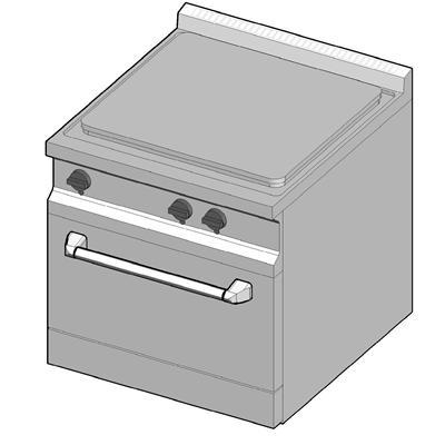 GKE/70 Газовая плита с сплошной поверхностью