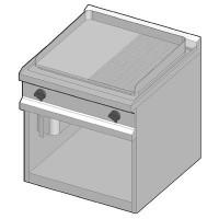 GUE/70-1/2LR Электрический гриль с комбинированной поверхностью