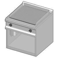 GUE/70-B Электрический гриль с рифленой поверхностью
