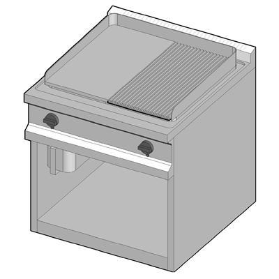 GUG/70-1/2LR Газовый гриль с комбинированной поверхностью